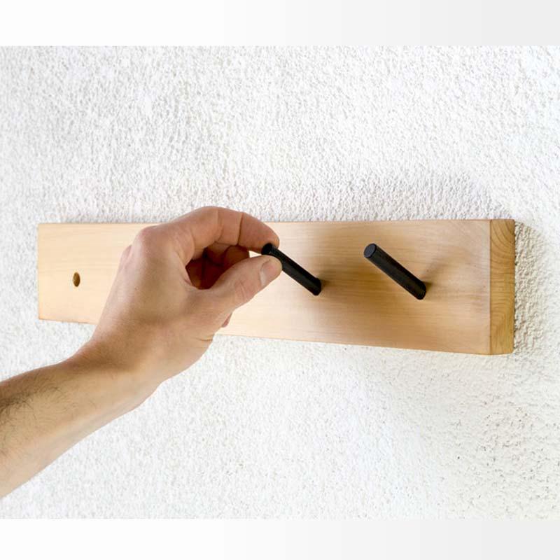 Percheros de pared modernos originales de madera diseño hierro