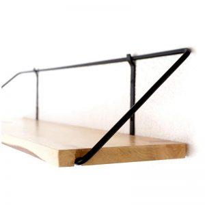 Estantes de madera para cocina moderno diseño hierro