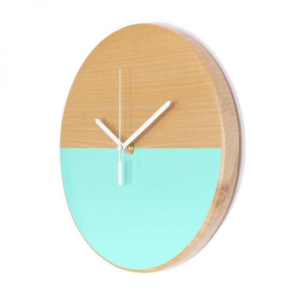 Reloj-de-pared-patagonia-madera-menta-agujas-blancas